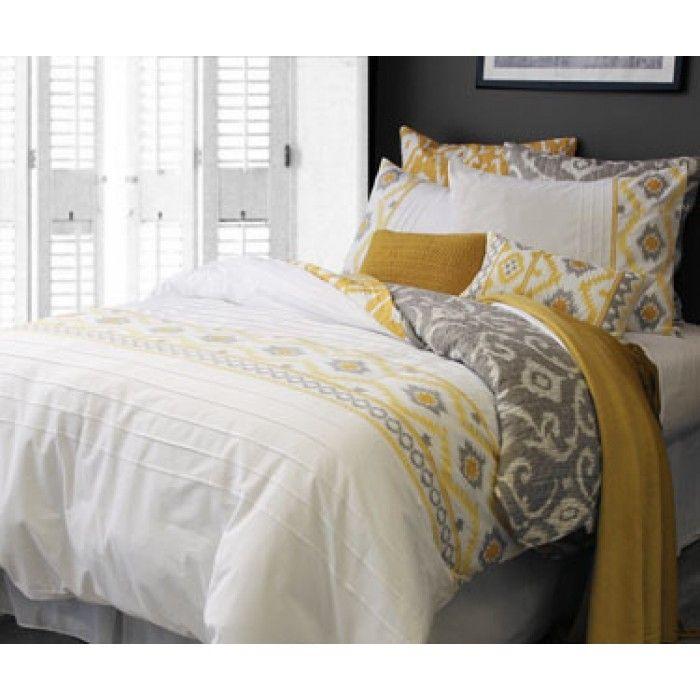 Ikat Jaya possède un motif Ikat authentique avec une perfusion moderne de couleur et de broderie minutieuse qui est parfait si votre style est traditionnelle, transitoire ou contemporain. Avouez-le, vous le voulez! 50/50 poly-coton, broderie et plissé.