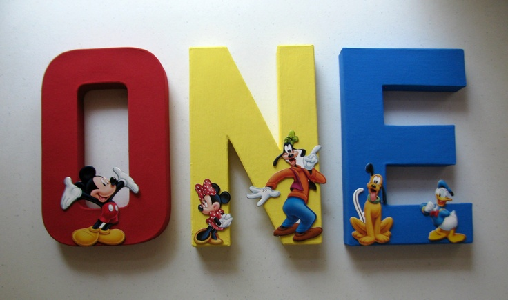 i like you letters painted mickey mouse one letters for birthday 22515