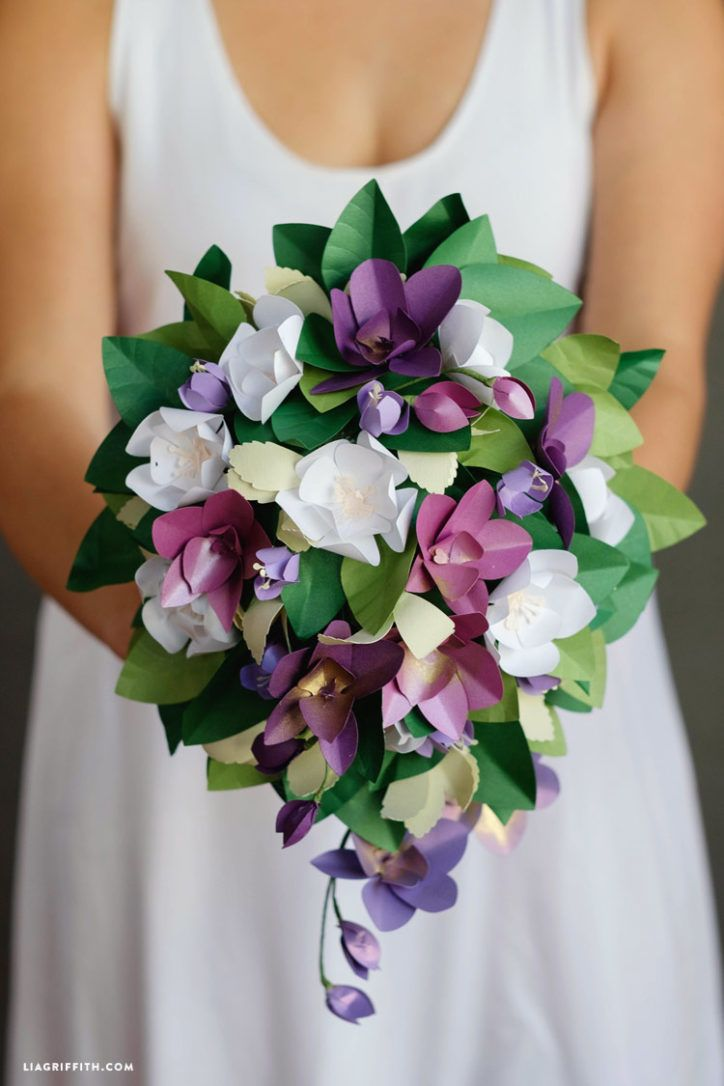 Paper Wedding Bouquets For Four Seasons