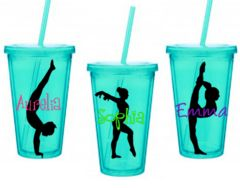 Gymnastics  Personalized tumbler, sports acrylic Cup