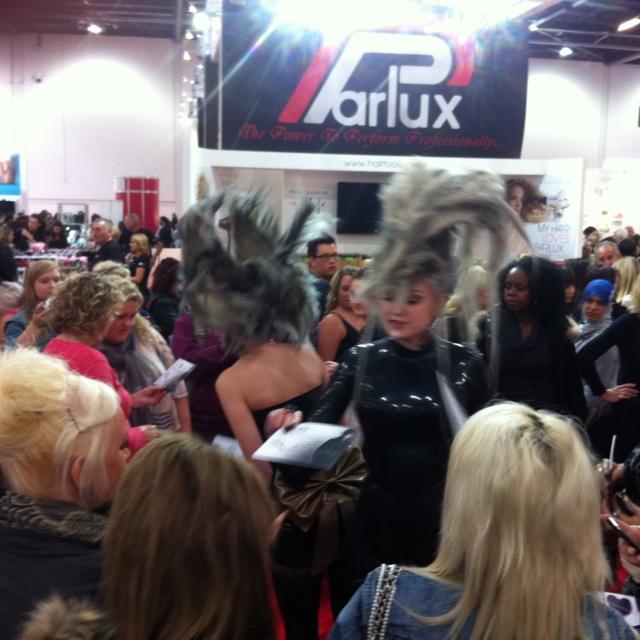 Interesting hair at Salon International 2013