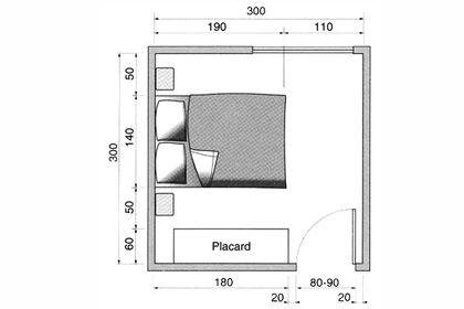 Une chambre avec lit double