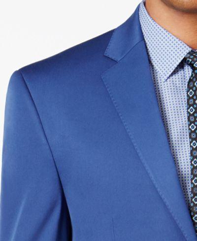 Sean John Men's Classic-Fit New Blue Jacket - Suits & Suit Separates - Men - Macy's ($164.99)