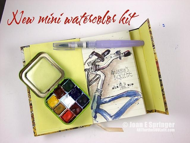 Mini Watercolor Set in tiny tin box by Joanie Springer, via Flickr