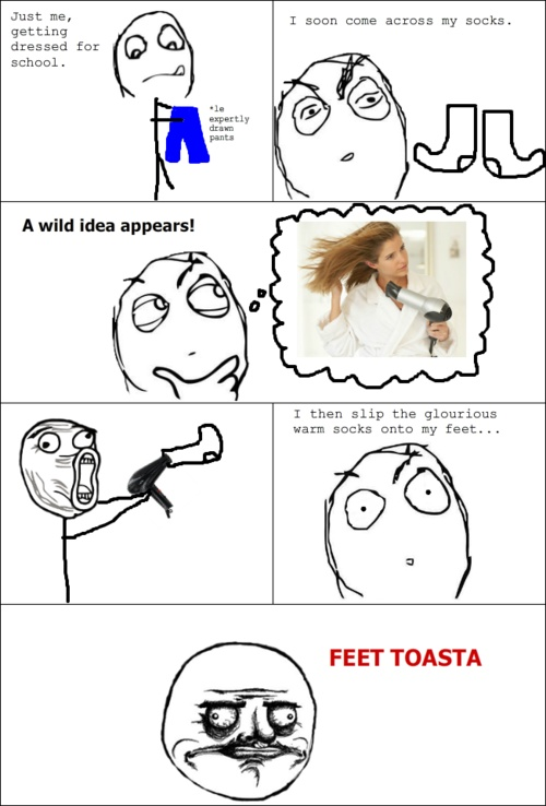 Image title: How To Clean Your Feets - Posted in: Funny, Troll Face Comics Pictures - Tagged: Funny Facts, School photos