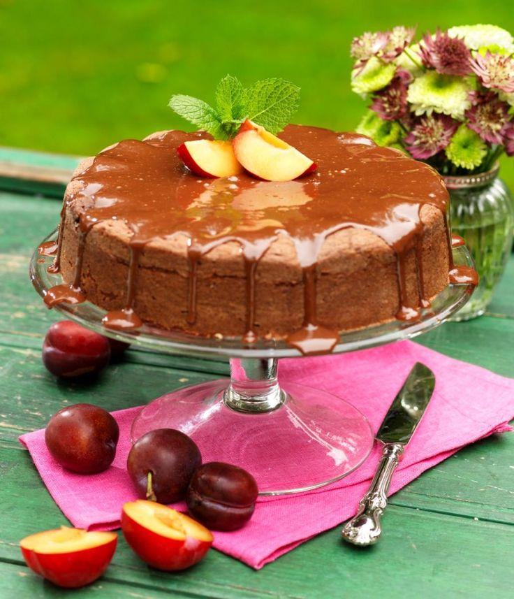 Chokladkaka med plommon