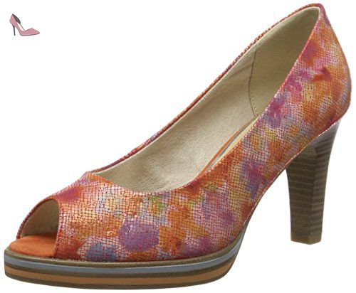 28372, Sandales Bout Ouvert Femme, Rose (Rose Comb 596), 40 EUMarco Tozzi