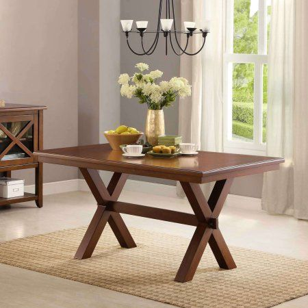 Better Homes and Gardens Maddox Crossing Dining Table, Brown - Walmart.com