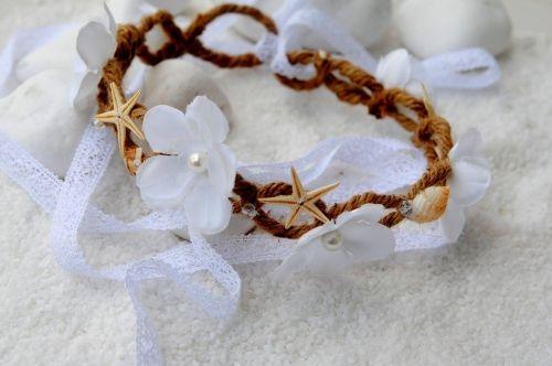 Χειροποίητο νυφικό στεφανάκι από λινάτσα, λουλούδια και κοχύλια.  http://handmadecollectionqueens.com/Νυφικο-στεφανι-απο-λινατσα-και-κοχυλια  #handmade   #fashion   #accessories   #circlet   #bridal   #wedding   #storiesforqueens