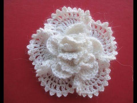 Объёмный цветок The volumetric Flower Crochet - YouTube