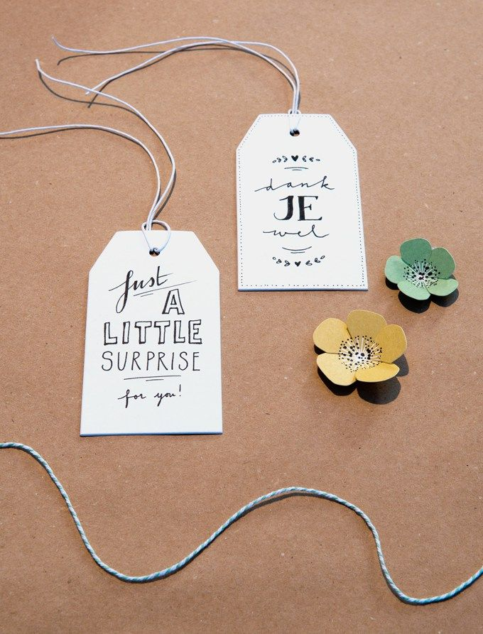 Gifttags, labels: Handwritten by Jansontwerpfabriek, het PapierAtelier @ ShowUP. Seen on HappyMakersBlog.com. Photo: BloomInspiration