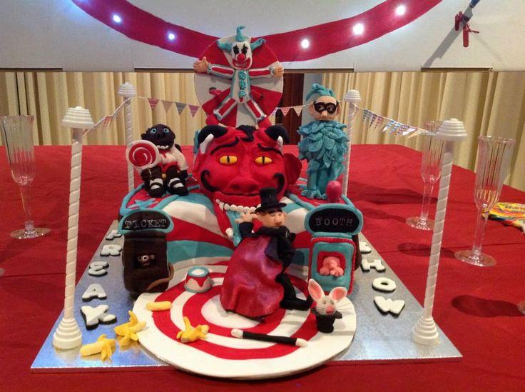 Freak Show Circus Cake