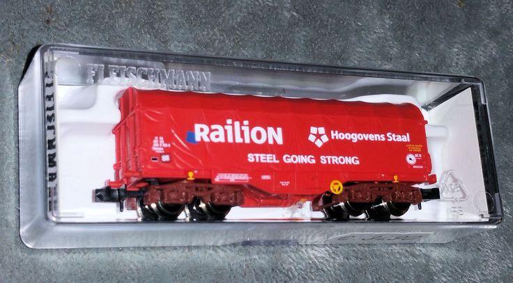 Fleischmann 837912, NS Railion, Spur N, Schiebeplanenwagen, Ep.5 unbenutzt, OVP