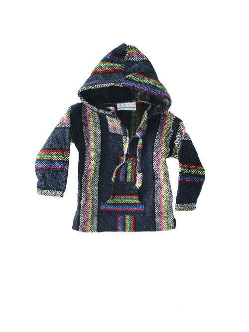 Kids Mexican Baja-Jumper / Sweater - navy blue