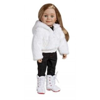 Carnaval Cozy: Dressed up in her furry white coat and tall white boots, Léonie might just be mistaken for the Bonhomme himself.