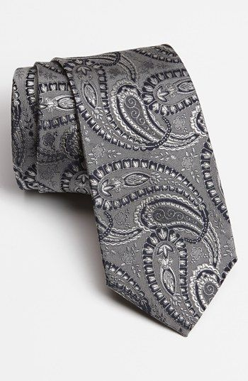 Grey Paisley Tie Etro Woven Silk Tie available at #Nordstrom