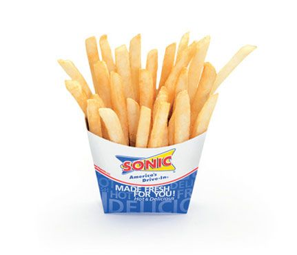 if you gotta have a fry. Sonics small french fries 200 cals 1.5 g sat fat...it has fewer calories than Mcdonalds and Burger Kings even though they are the same size.