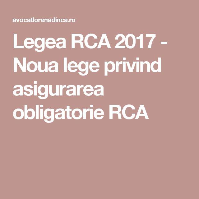 Legea RCA 2017 - Noua lege privind asigurarea obligatorie RCA