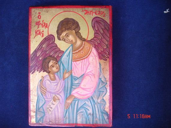 byzantine icon.orthodox icon.guardian angel.greek icon.archangel gabriel.angel gabriel.christian icon.gift.icon religious.hand painted icon.