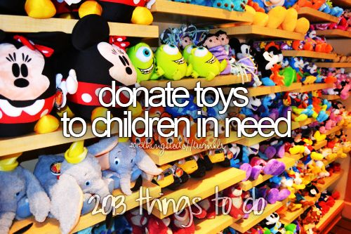 I have done this before. I got a school district to buy new toys/stuffed animals to give to the school. I didn't ask form money but people donated some to the school. We took an entire day to rap the toys in wrapping paper. Then the next day I had off i delivered them to the cancer patients in children's hospital. I was in their situation once.And what got me through was my stuffed animal. I thought that if they had something it would make them feel better.