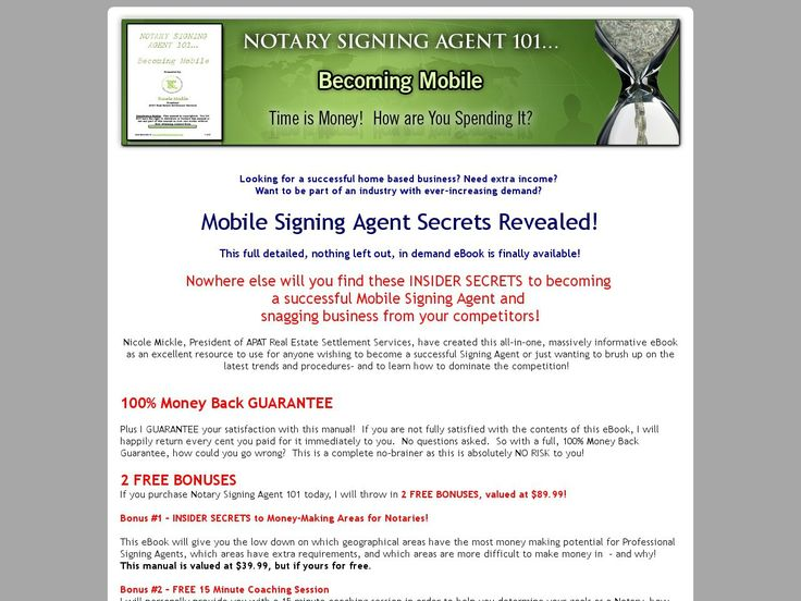 Notary signing agent resume