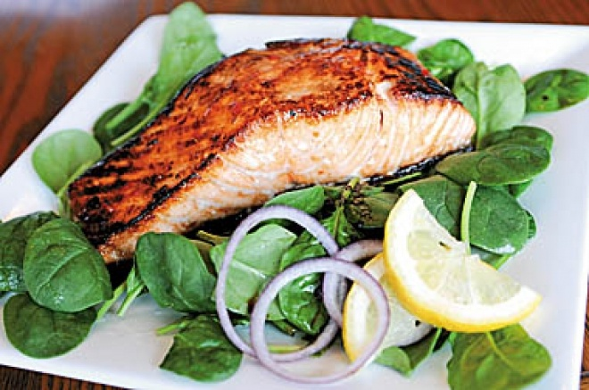 how to cook marinated salmon fillet in oven