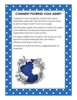 How Can You Help? Comment pourriez-vous aider?