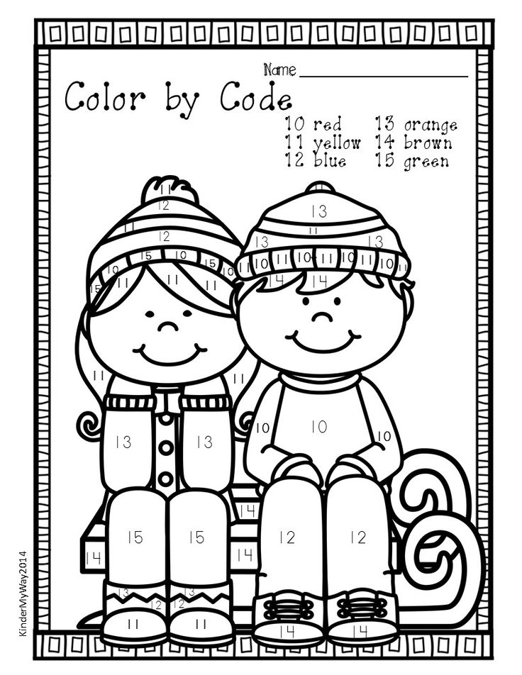 winter coloring pages math preschool - photo#44