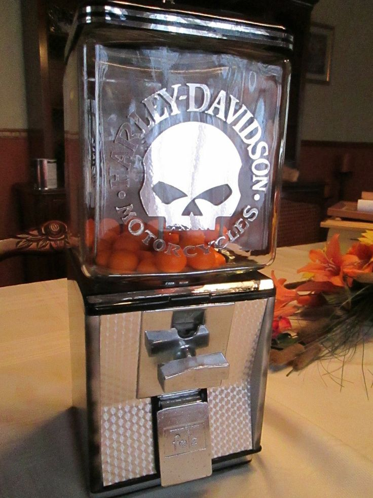 Vintage Harley Davidson themed Gumball/Candy Machine