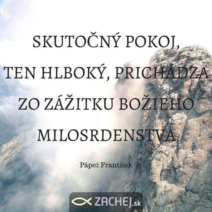 zachej.skJe síce piatok, ale nadýchnuť sa pokoja je dobré každý deň. Dnes nás inšpiruje pápež František #zachejsk #citatyzachej #vyrokysvatych #vzdysbohom #dnescitam #citamkrestanskeknihy