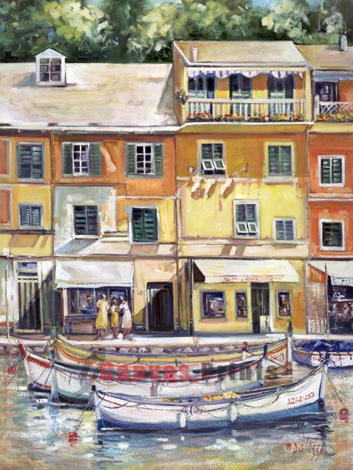 """Lunch Break in Portofino"" Limited Edition by Lucette Dalozzo"