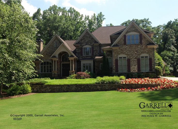 Garrell Associates Inc Burgandy House Plan 00369 French