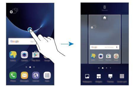 Aggiungere Widget modificare foto sfondo Galaxy S7 Samsung