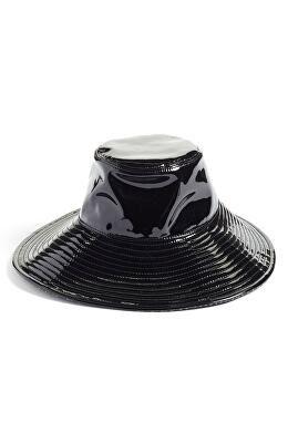 85a1a9fa7a402 ERIC JAVITS Designer Driptidoo Patent Bucket Rain Hat