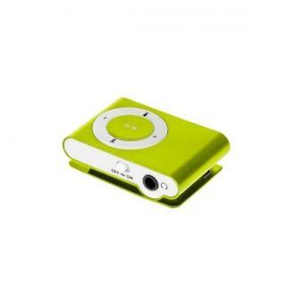 Lekki i przenośny odtwarzacz MP3. Urządzenie nie posiada pamięci wbudowanej, za przechowywanie utworów odpowiada czytnik kart microSD do 32 GB. Urządzenie zostało wyposażone w praktyczny klips umozliwiający zamocowanie odtwarzacza, np. do paska. Urządzenie obsługuje odtwarzanie plików MP3.  Produkt w kolorze zielonym.