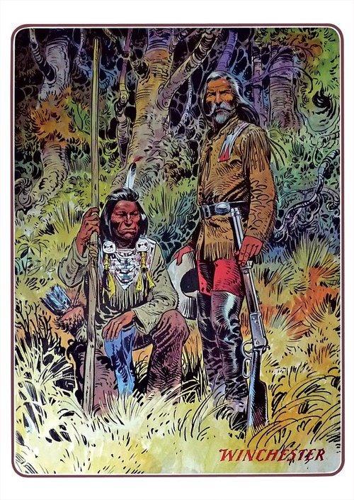 Buffelo Bill with Indian by Jean Giraud.