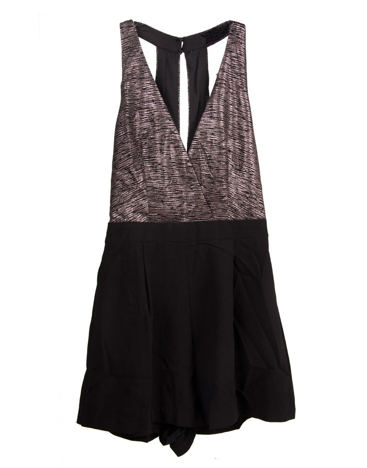 Lush Clothing - Metallic Cross Front Romper - Small – 2020AVE
