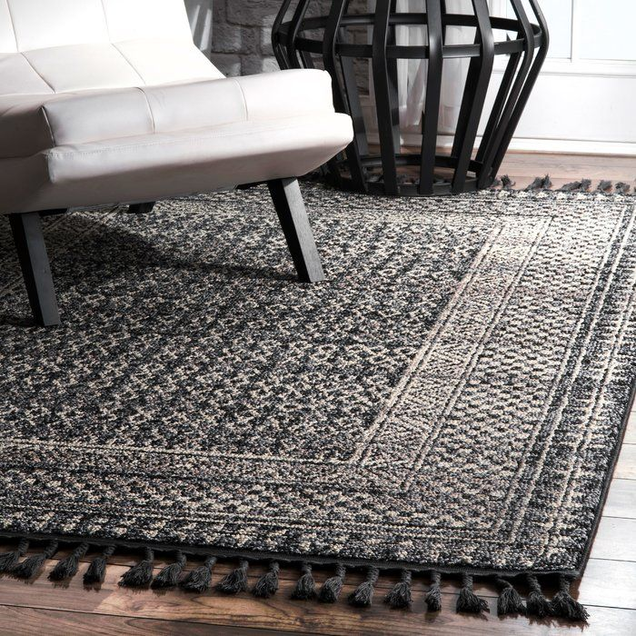 Aticus Ivory Black Gray Area Rug With Images Area Rugs Dark
