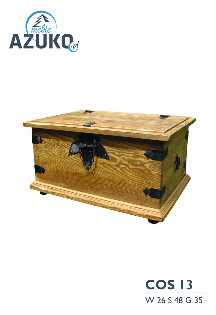 Skrzynie woskowane - z litego drewna sosnowego | AZUKO