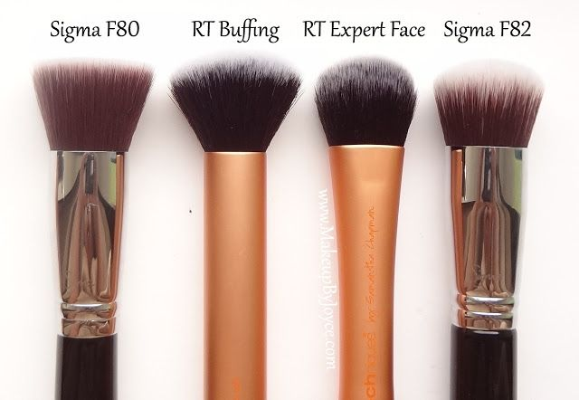 Real Techniques Buffing Brush dupe for sigma f80 brush