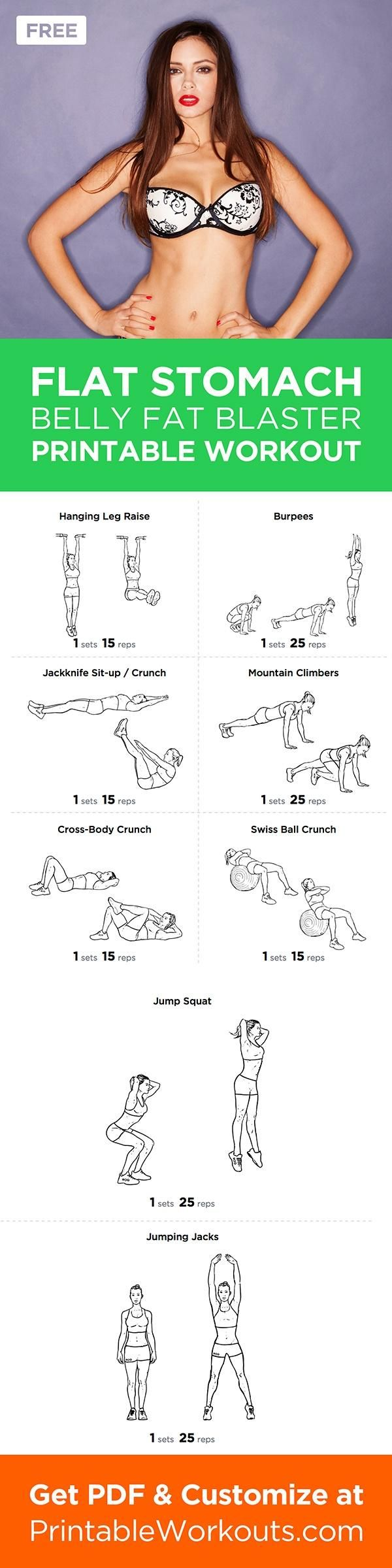 Flat Stomach Workout. Not that I will ever be able to get defined abs... :(