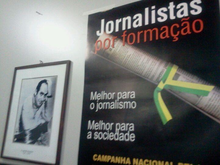 """O """"santuário"""" de Herzog no Sindicato dos Jornalistas de São Paulo."""
