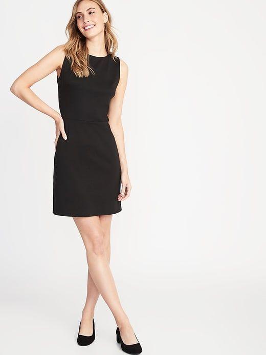 Sleeveless Ponte-Knit Sheath Dress for Women 1