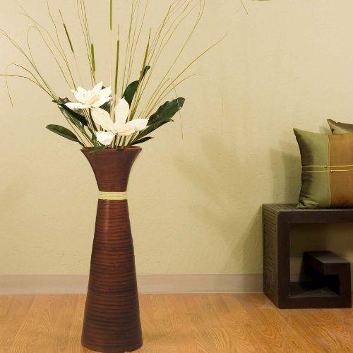 Green Floral Crafts 28 in. PLantation Bamboo Floor Vase - Brown with Magnolias Green Floral Crafts http://www.amazon.com/dp/B009V375TG/ref=cm_sw_r_pi_dp_5LOvub010ER75