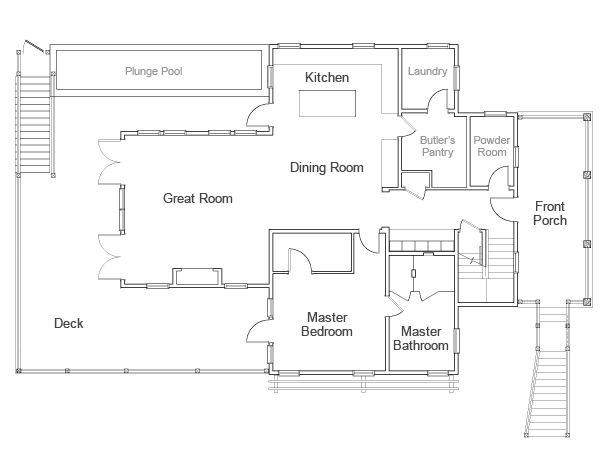 images about Floor plan on Pinterest   Floor Plans  Garage     Dream Home Floor Plan  First Floor  gt  gt  http