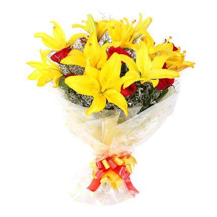 Beautiful Bunch of Yellow Lilies