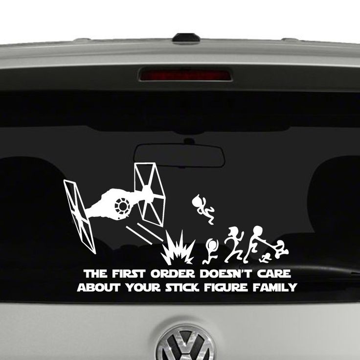 The First Order Doesnt Care About Your Stick Figure Family Vinyl - Family decal stickers for carscar truck van vehicle window family figures vinyl decal sticker