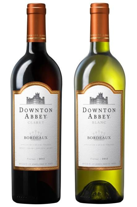 "The music, the Crawleys and their servants, and the castle — it is all so stylish and compelling. ""Downton Abbey"" returned to PBS for a new season this week. ""Downton"" inspires product collections, events and more.Gift Ideas, Abbey Parties, Downtonabbey Wine, Abbey Duo, Downtown Abbey, Wine Bottle, Wine Collection, Downton Abbey, Duo Claret"
