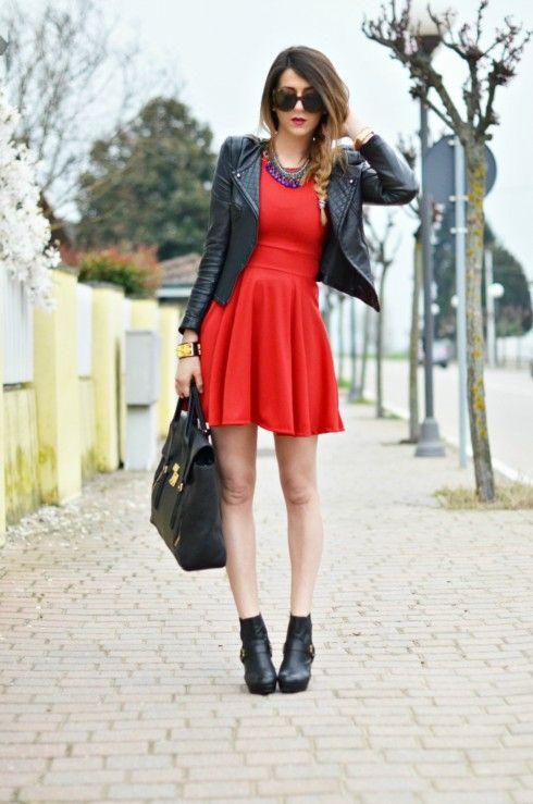 #fashion #fashionista Nicoletta LITTLE RED DRESS- Vestito Rosso Fashion Blogger Outfit