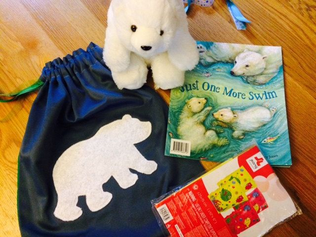 Polar Bear Story Sack Bundle by LollyAndCo on Etsy